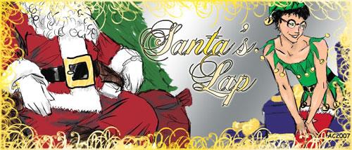 Santa's Lap Banner